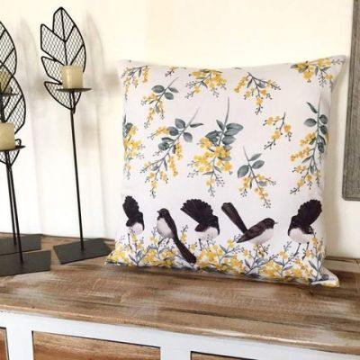 willy wagtail cushion cover