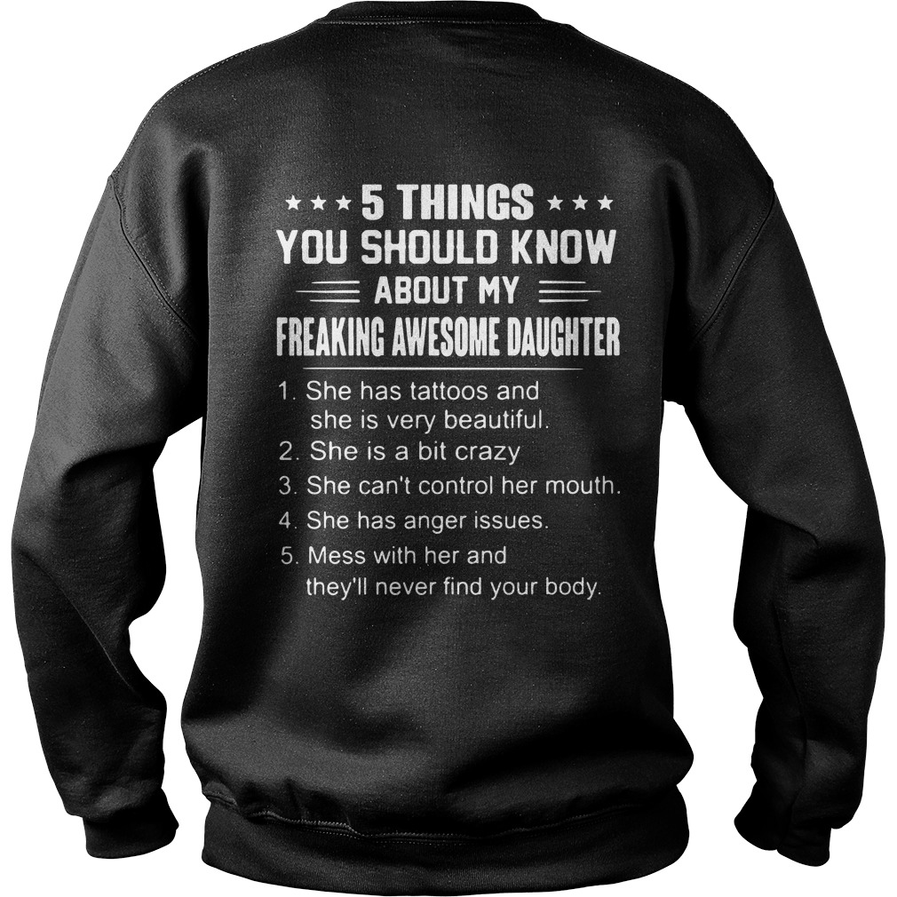 5 things you should know about my freaking awesome daughter dad's Sweater