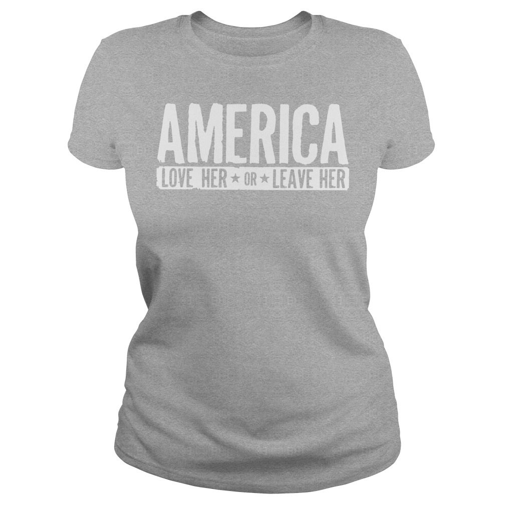 AMERICA Love her or leave her workout Ladies tee