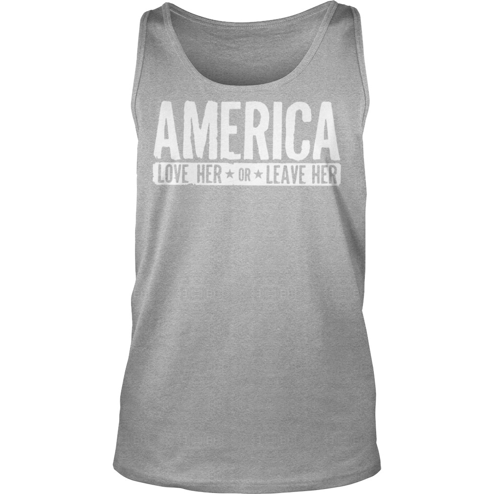 AMERICA Love her or leave her workout Tank top