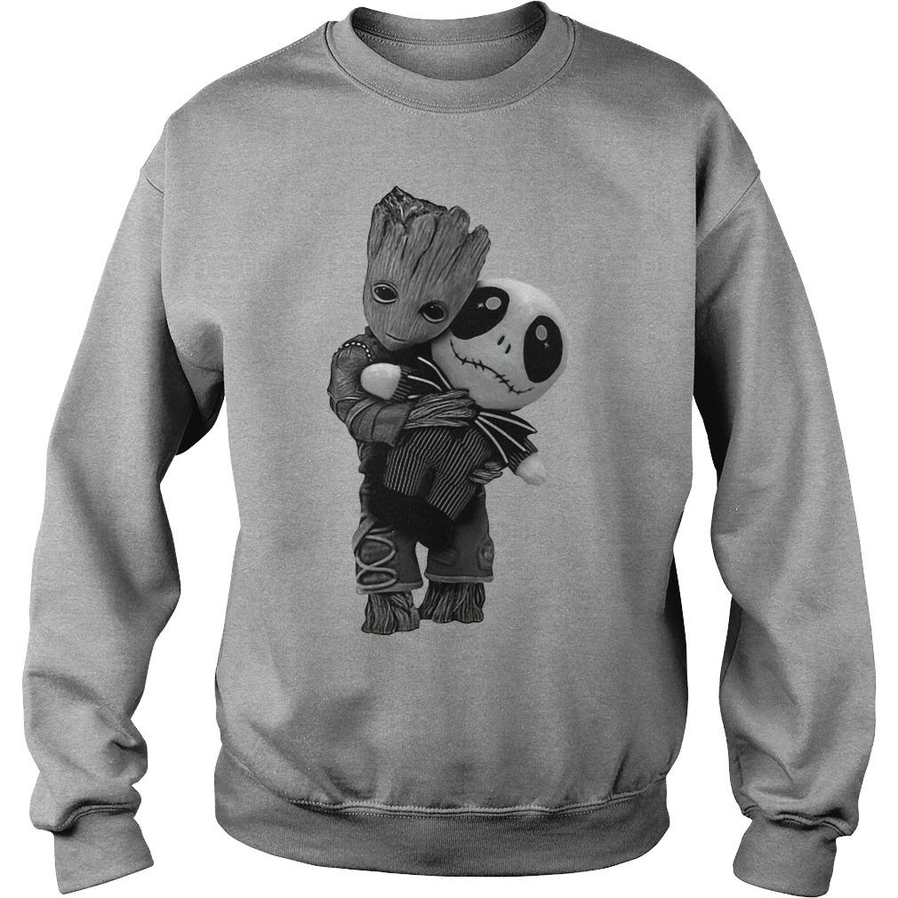 Baby Groot Hug Jack Skellington Doll Sweater