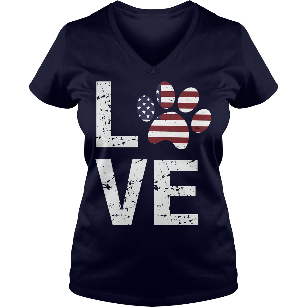 Love Paw USA Ladies tee