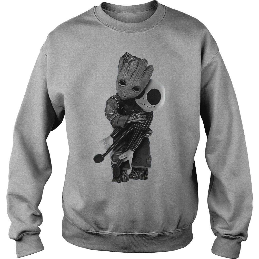 Official Baby Groot hug Jack Skellington Sweater