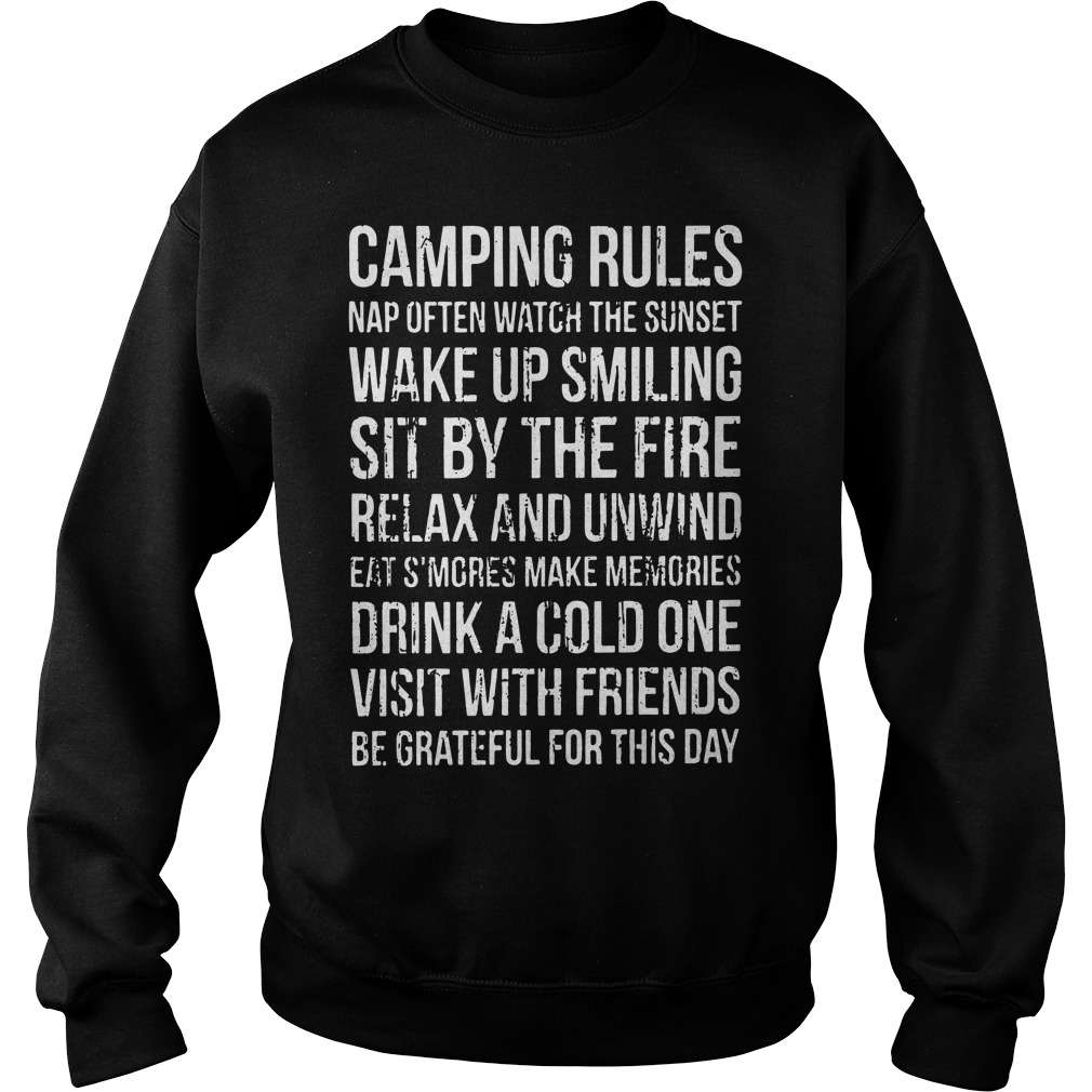 Official Camping rules Sweater