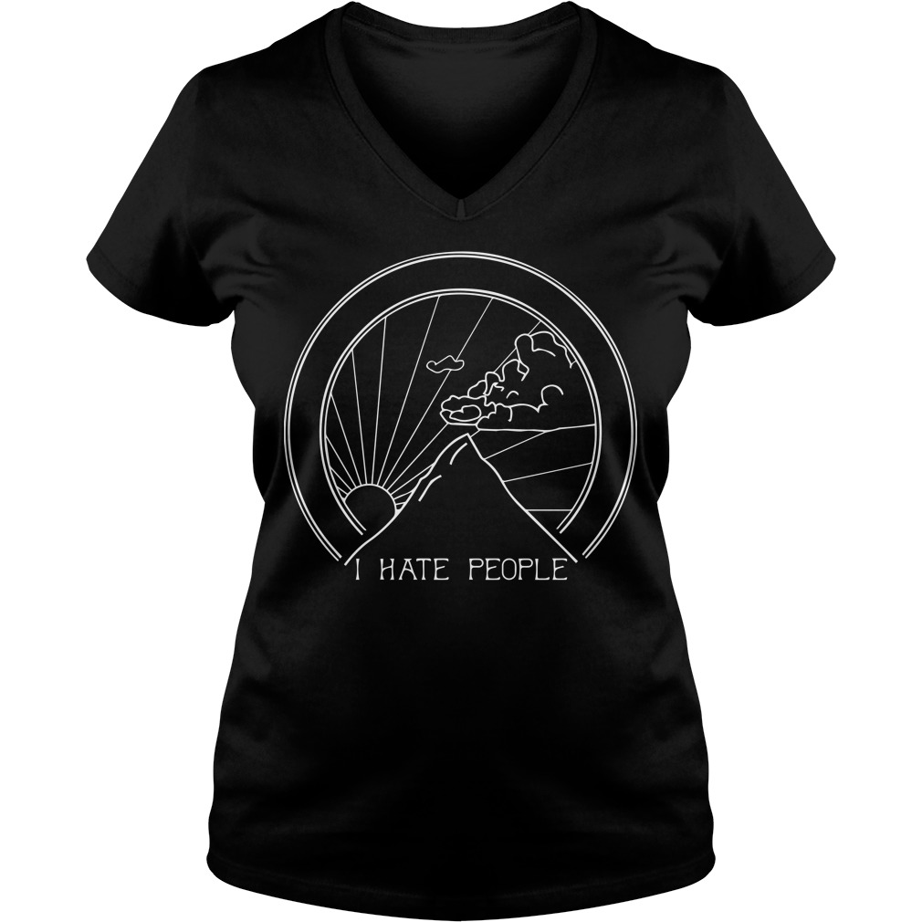 Official I hate people camping V-neck t-shirt