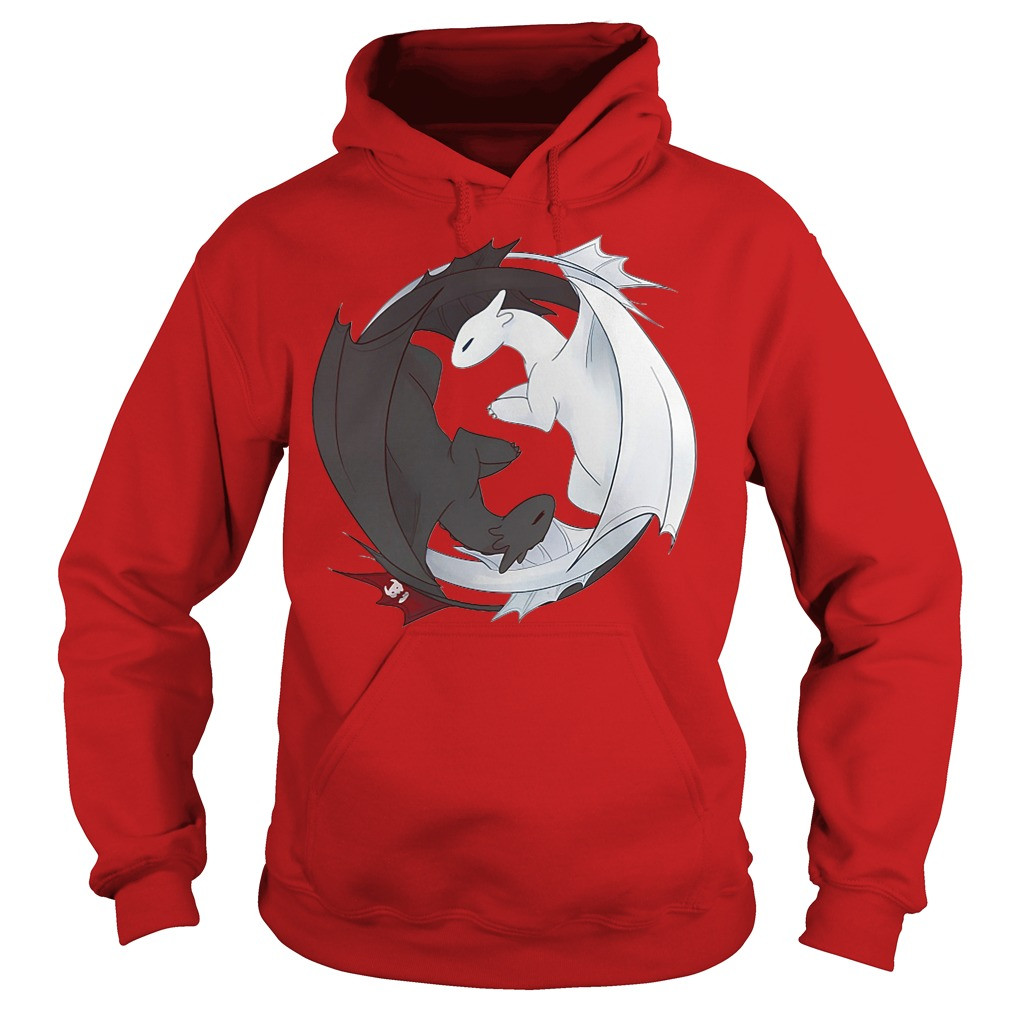 Official Toothless Night Fury and Light Fury Yin Yang Hoodie