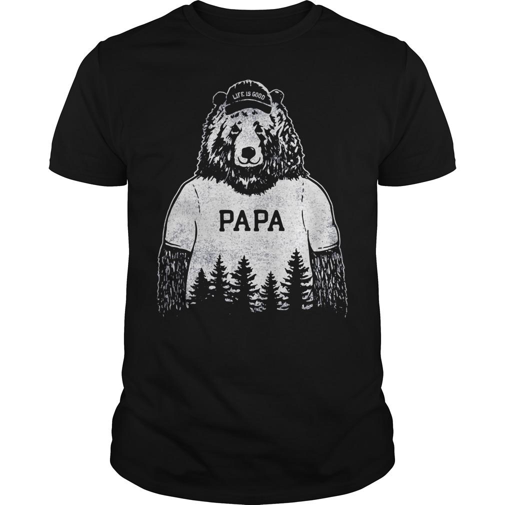 Papa bear Life is good Guys tee