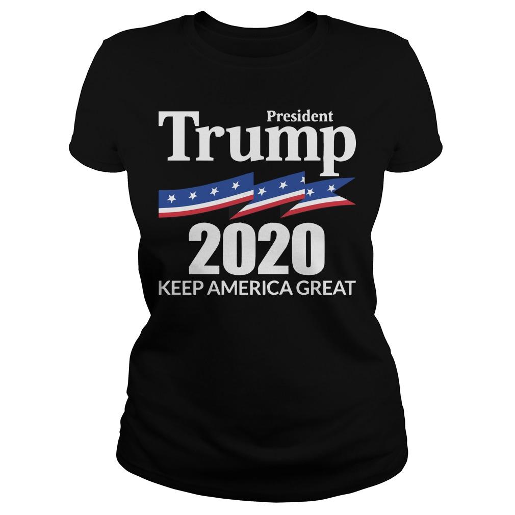 Trump Ladies Tee: 2020 How to Keep America great simple