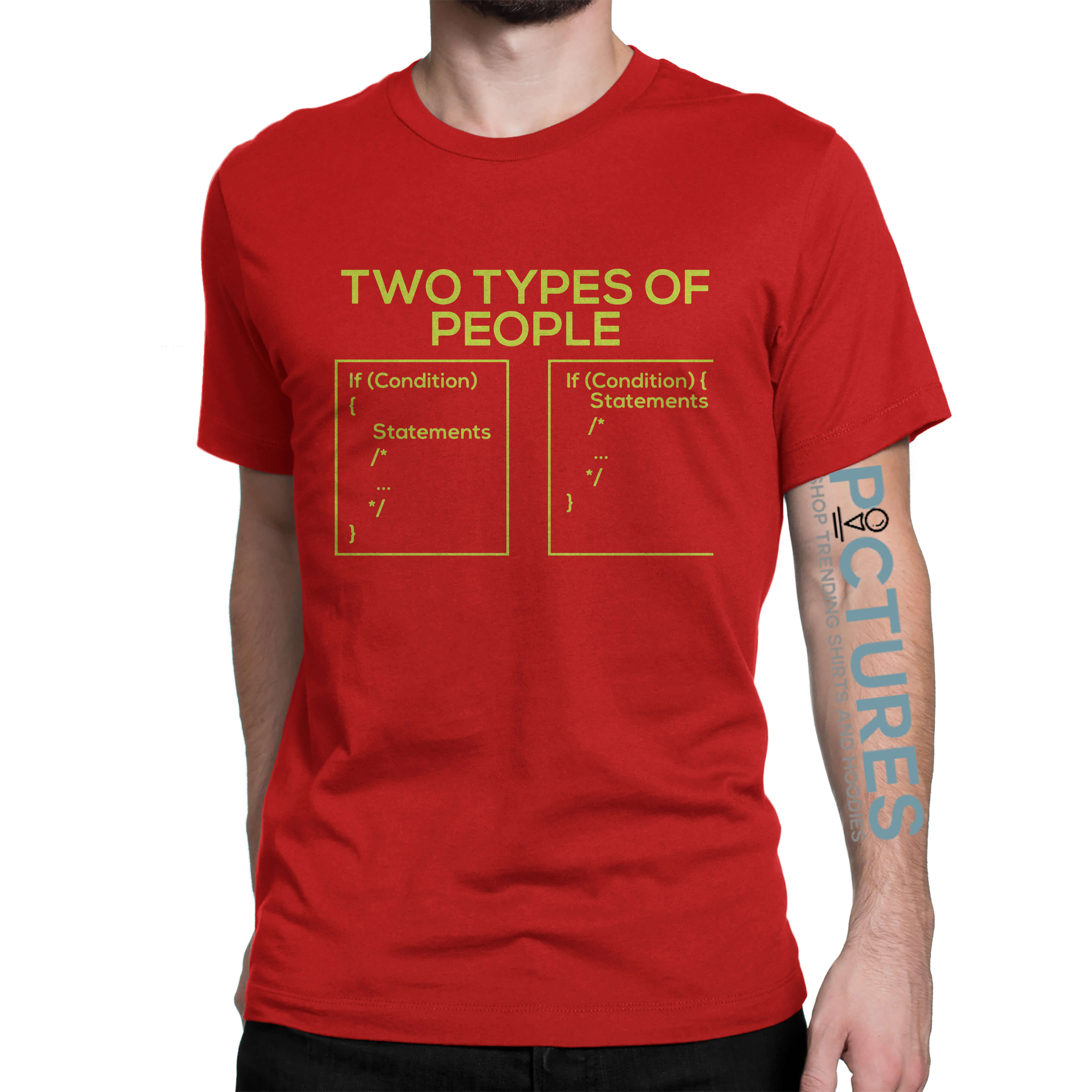 Two types of people developer's world shirt