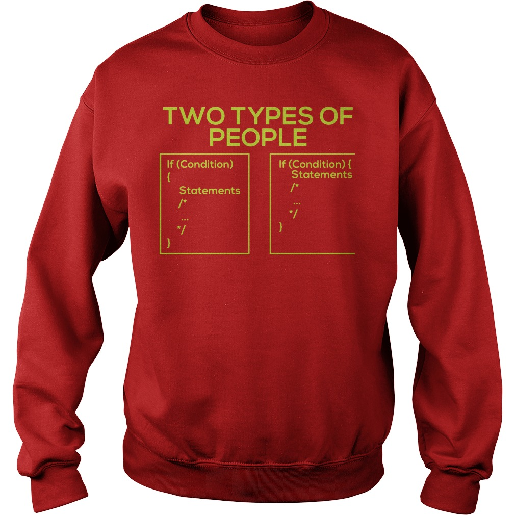 Two types of people developer's world Sweater