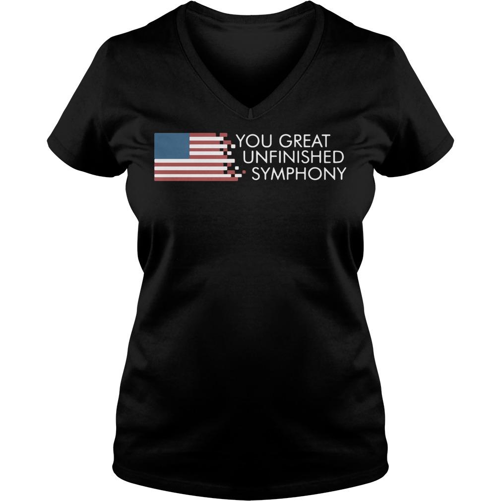 AmericaYou Great Unfinished Symphony V-neck