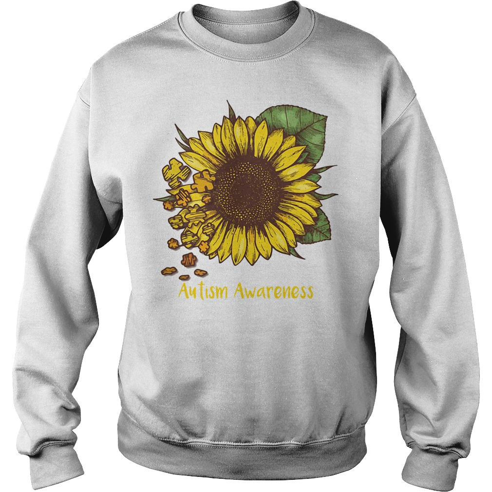 Autism awareness sunflower Sweater