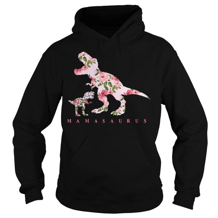 Autism Mamasaurus floral Hoodie