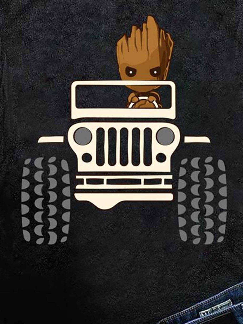 Baby Groot Drive Jeep