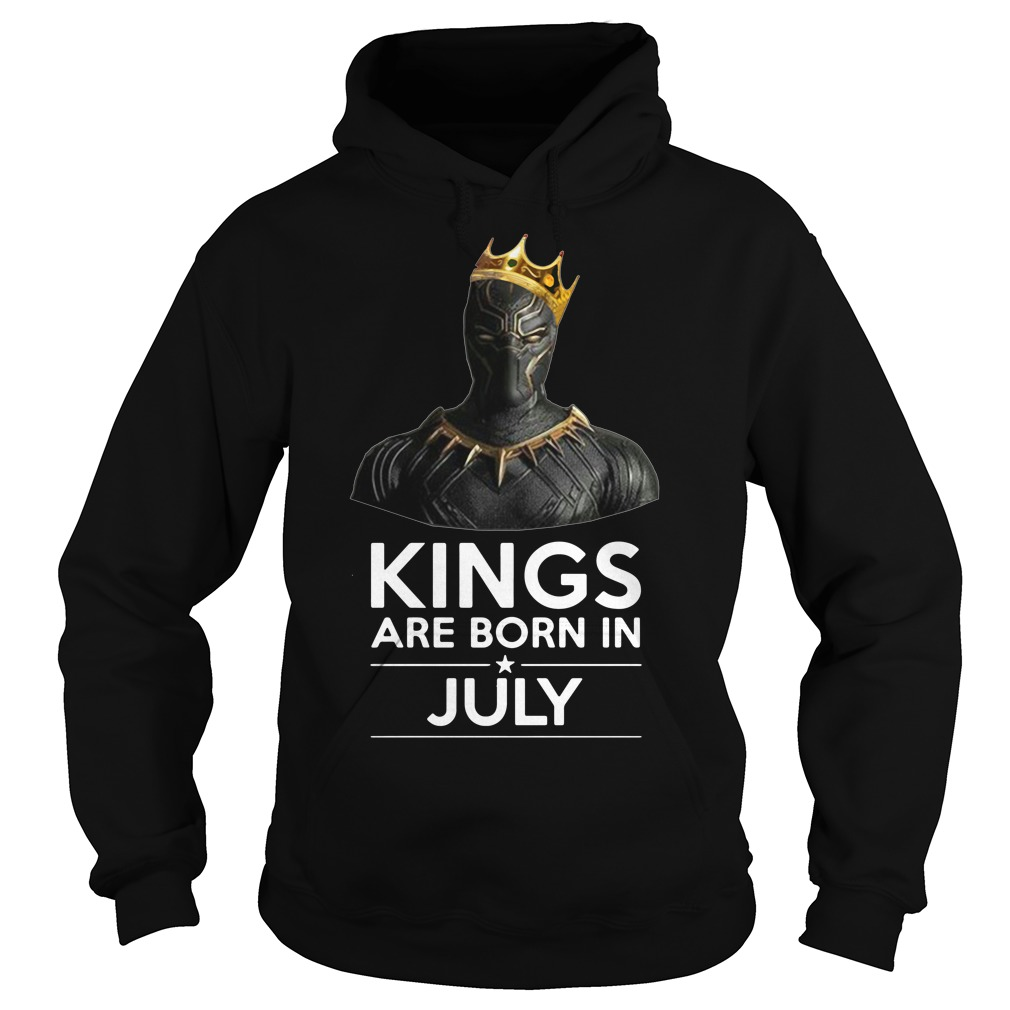 Black Panther Kings are born in July Hoodie