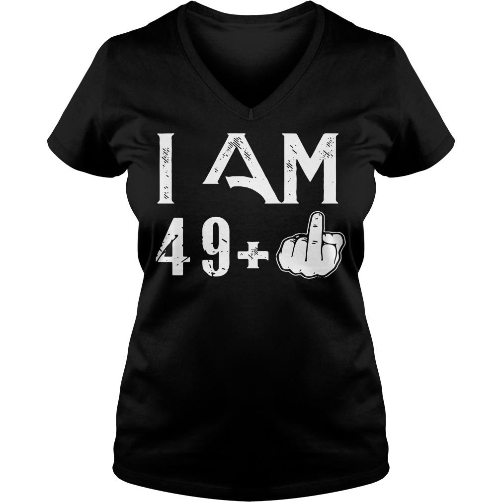 I Am 49 50 Birthday V-neck