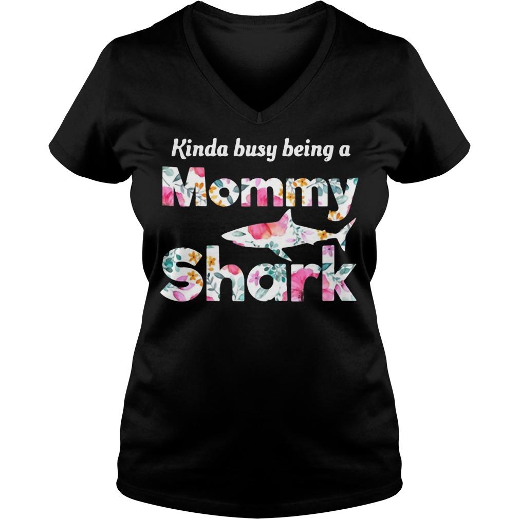 Kinda busy being a Mommy Shark V-neck