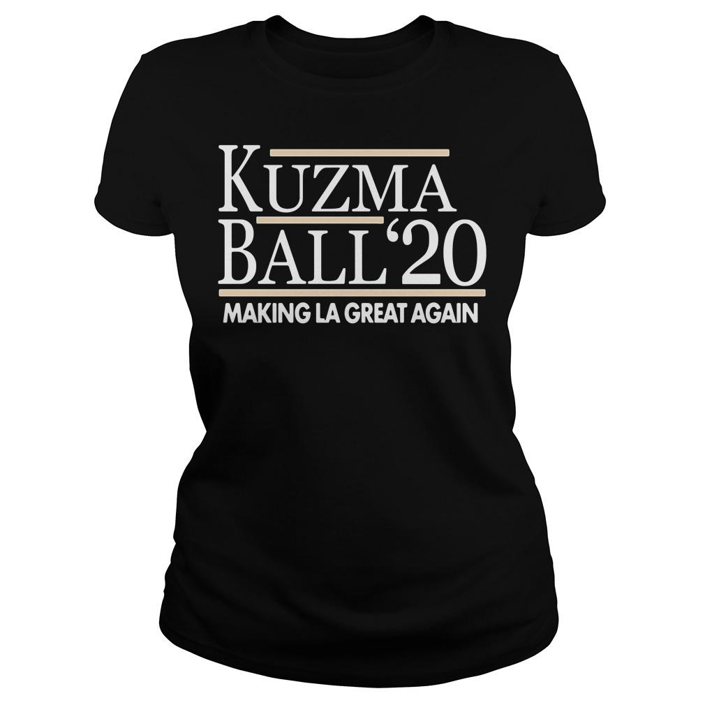 Kuzma Ball 20 Make LA Great Again Ladies tee