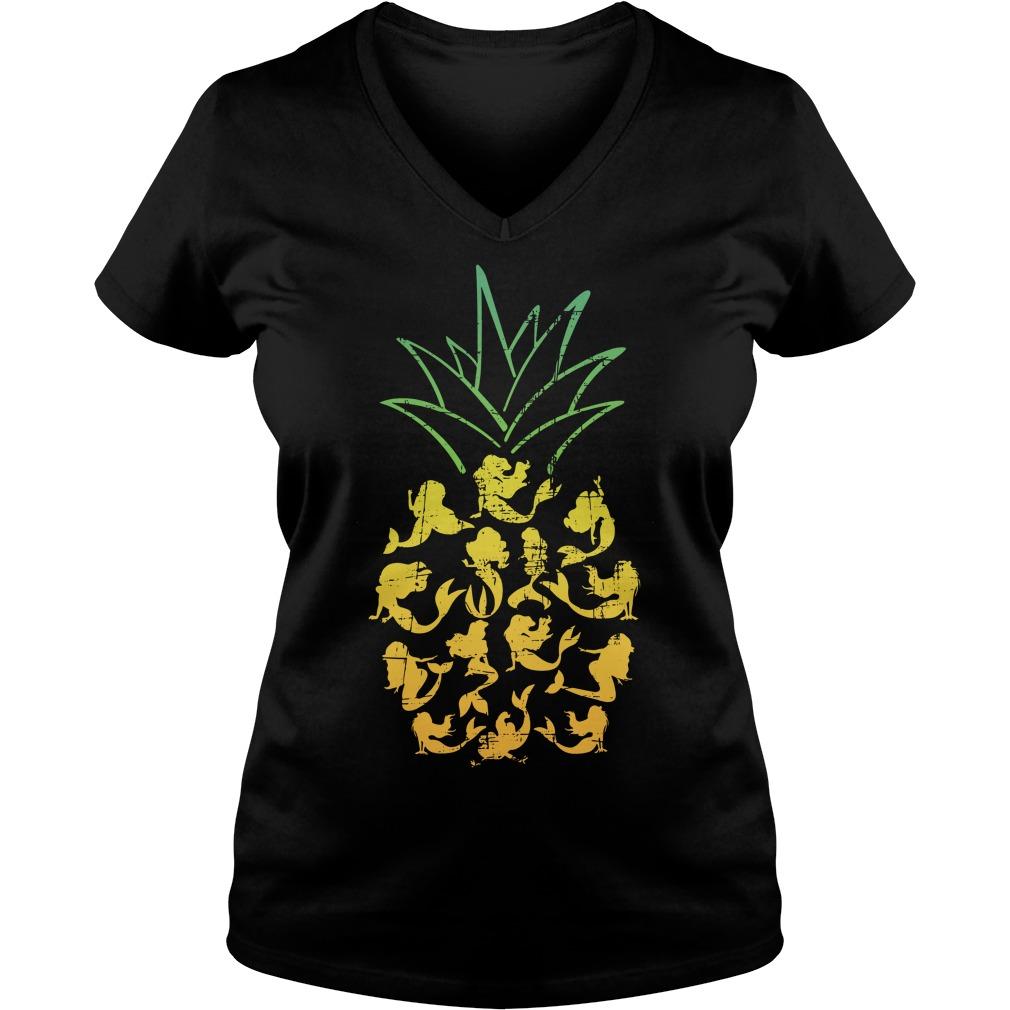 Mermaid Pineapple V-neck