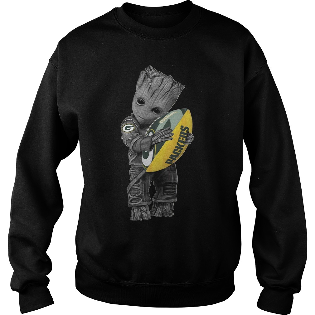 Official Baby Groot hug Green Bay Packers Sweater
