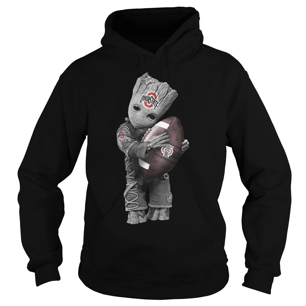 Official Baby Groot Hug Ohio State Buckeyes Hoodie