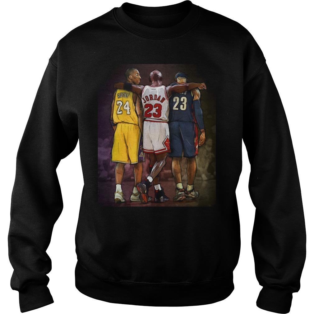 Official Michael Jordan Hugging Kobe Bryant And Lebron James Sweater