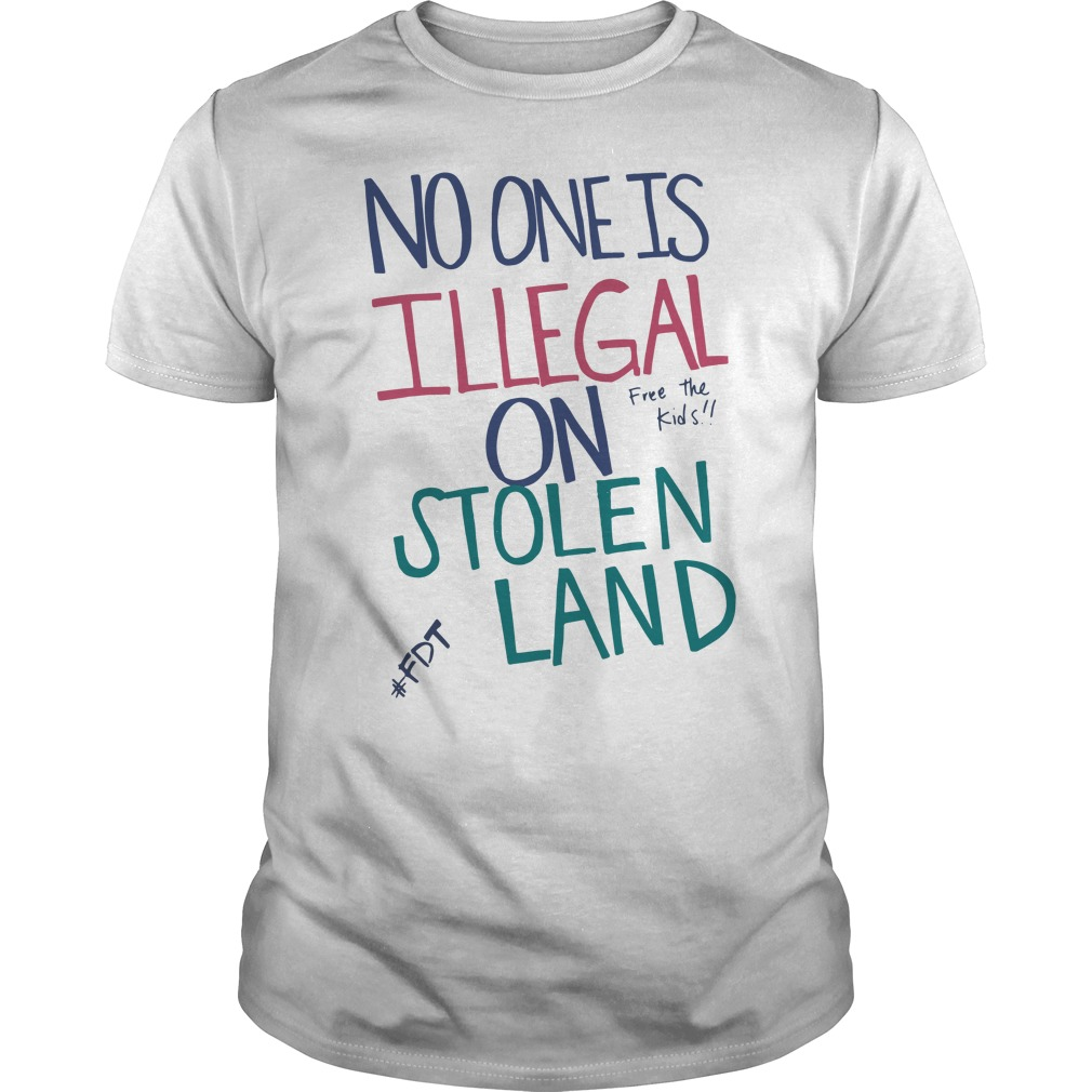 Official No one is illegal on stolen land free the kids Guys tee