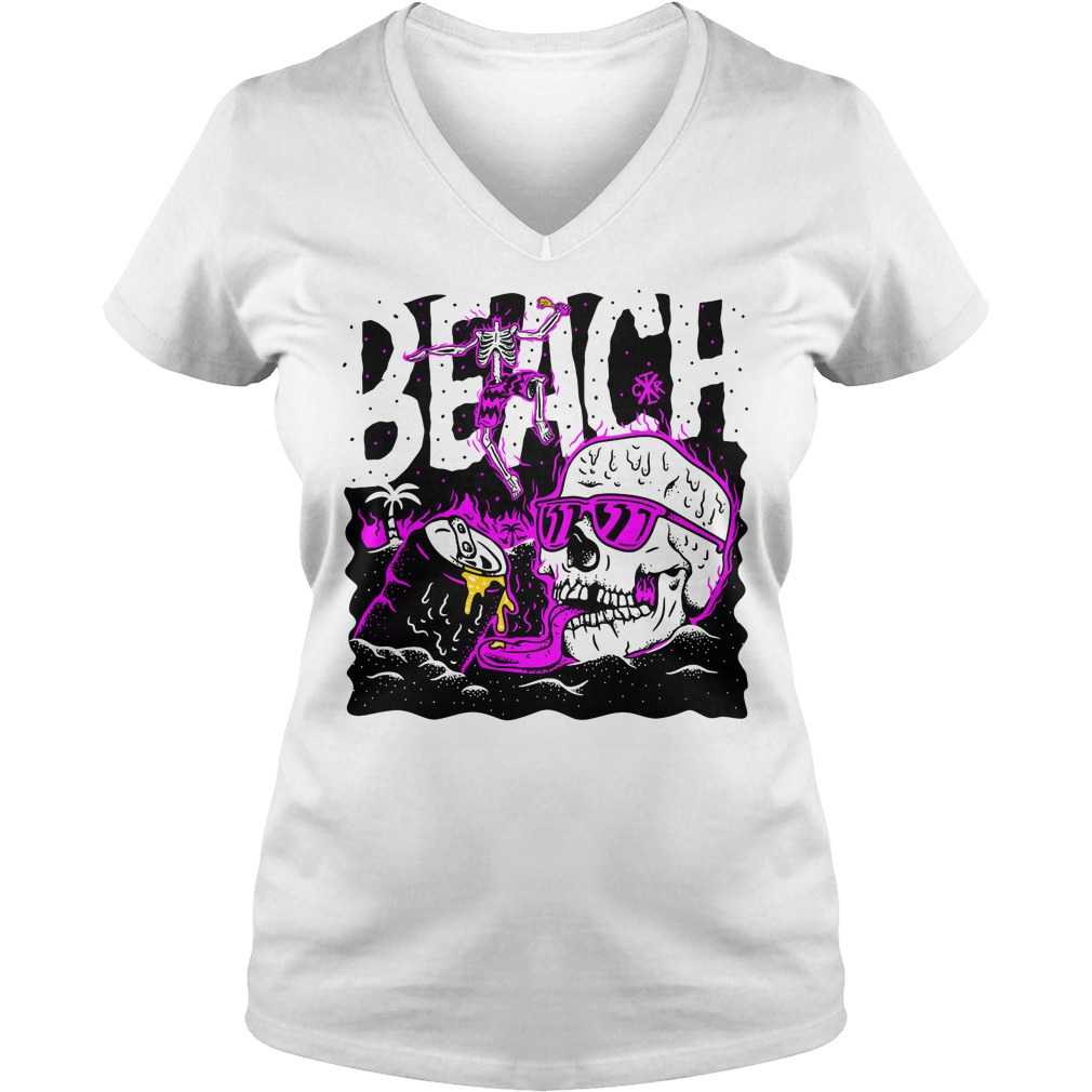 Official skull beach V-neck t-shirt