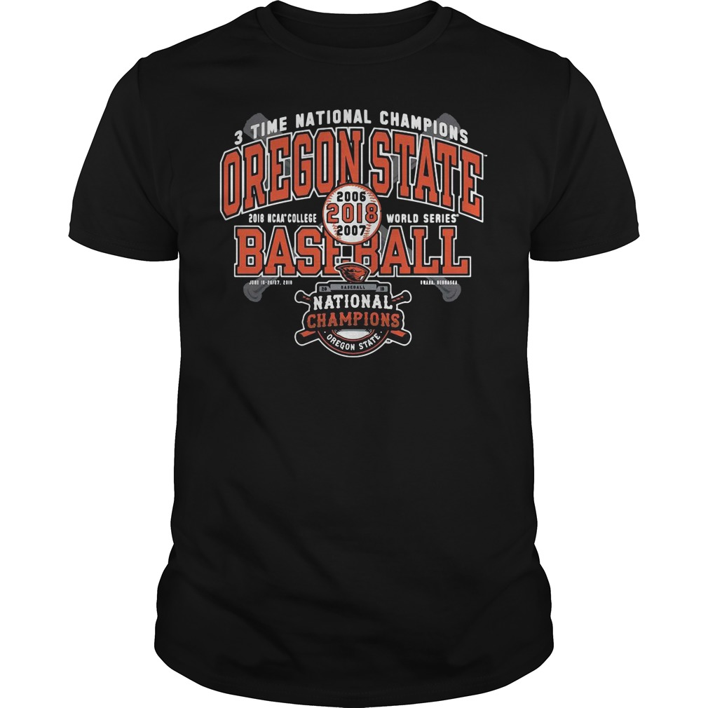 Oregon State Beavers National Champions Grand Slam Guys tee