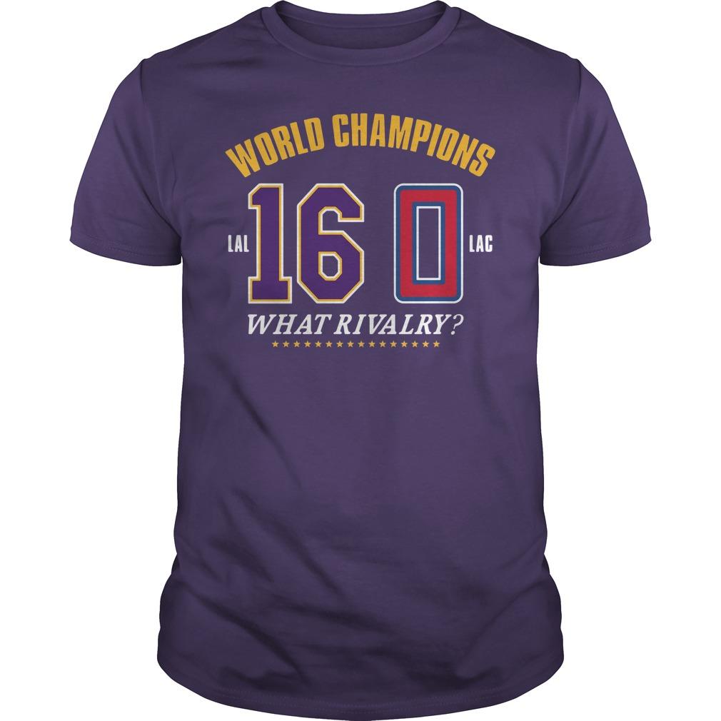 World Champions What Rivalry Guys tee