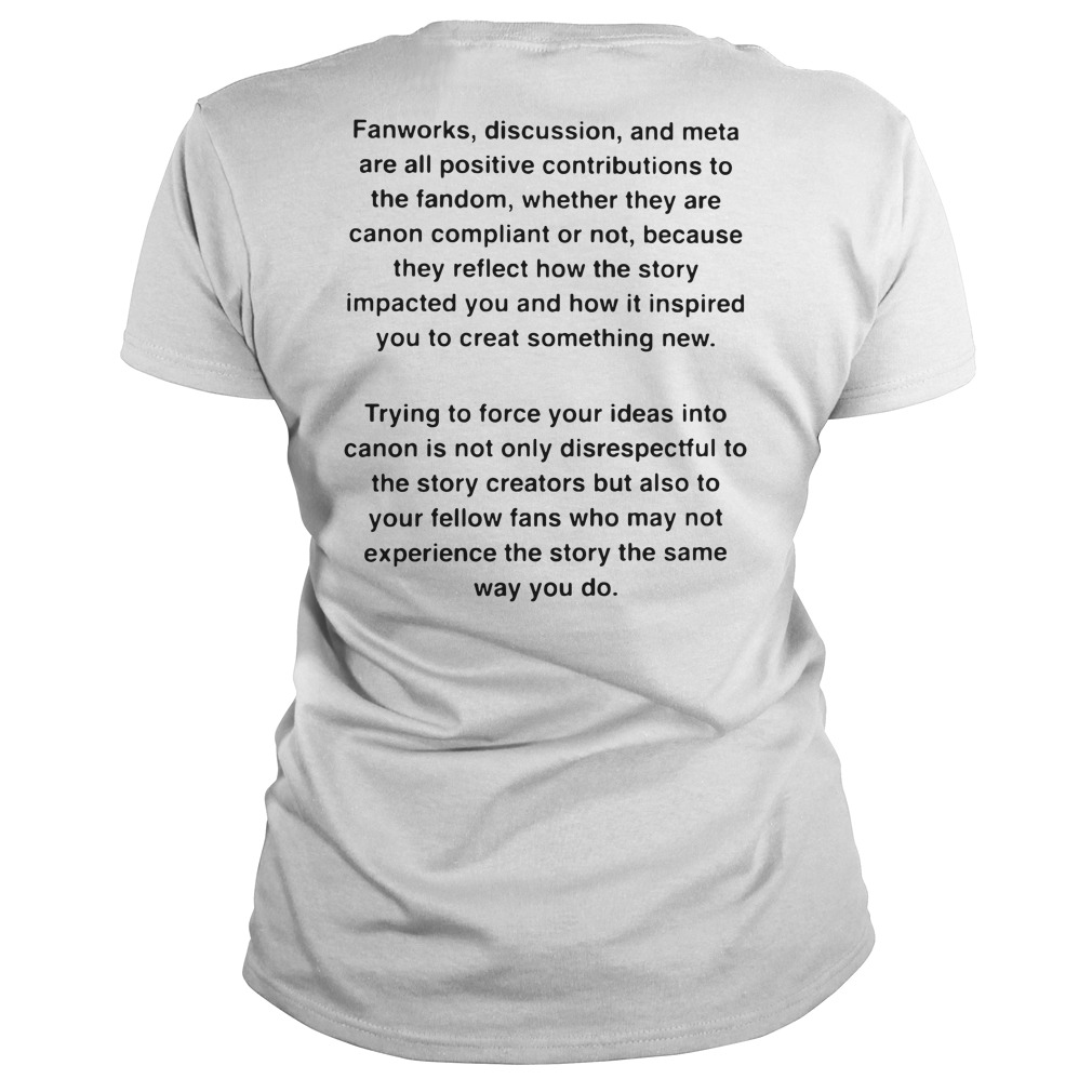 Your OTP Probably Won't Be Canon shirt Ladies tee back