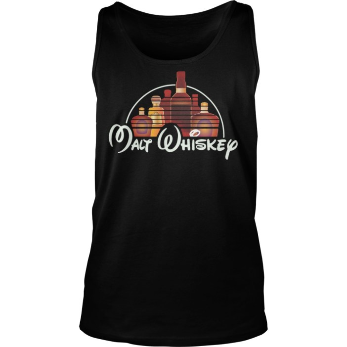 Malt Whiskey Not Walt Disney Tank top