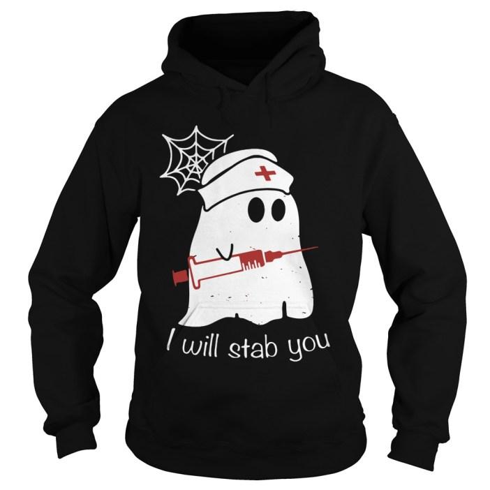 Nurse Ghost I Will Stab You Hoodie