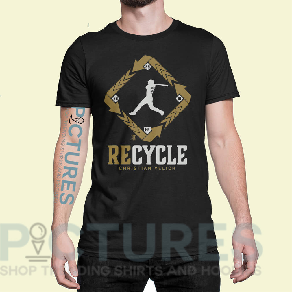 Christian Yelich supports recycle shirt