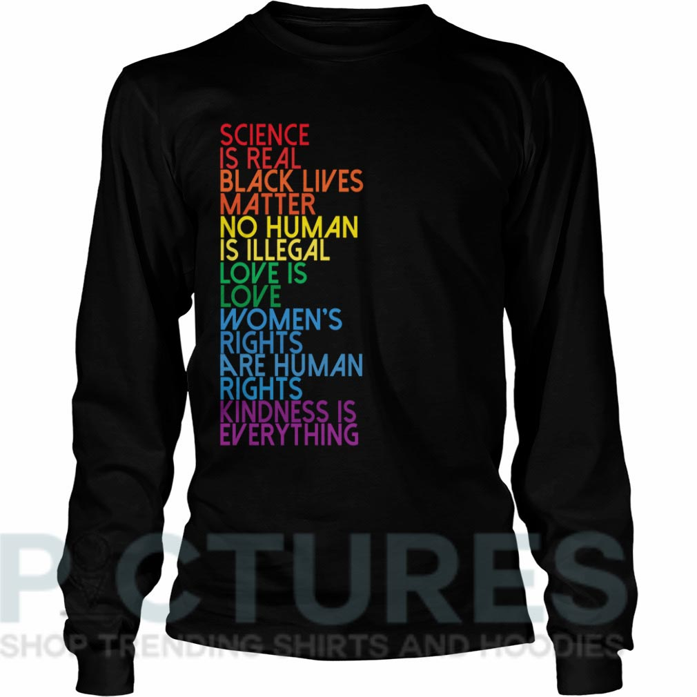 Science is Real Black Lives Matter Long sleeve