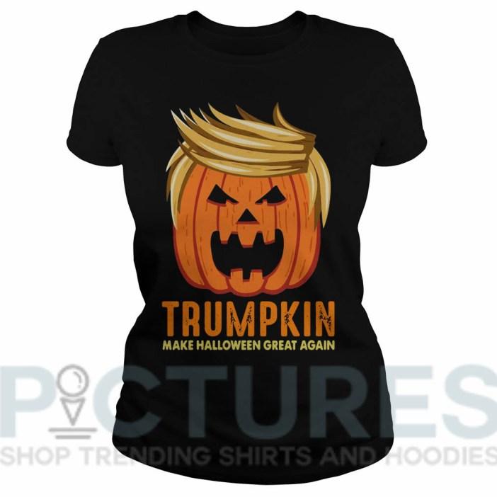 Trumpkin Make Halloween Great Again Ladies tee