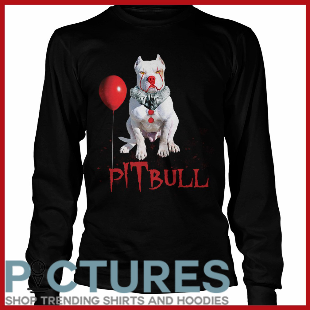 Halloween Pitbull Pennywise Long sleeve