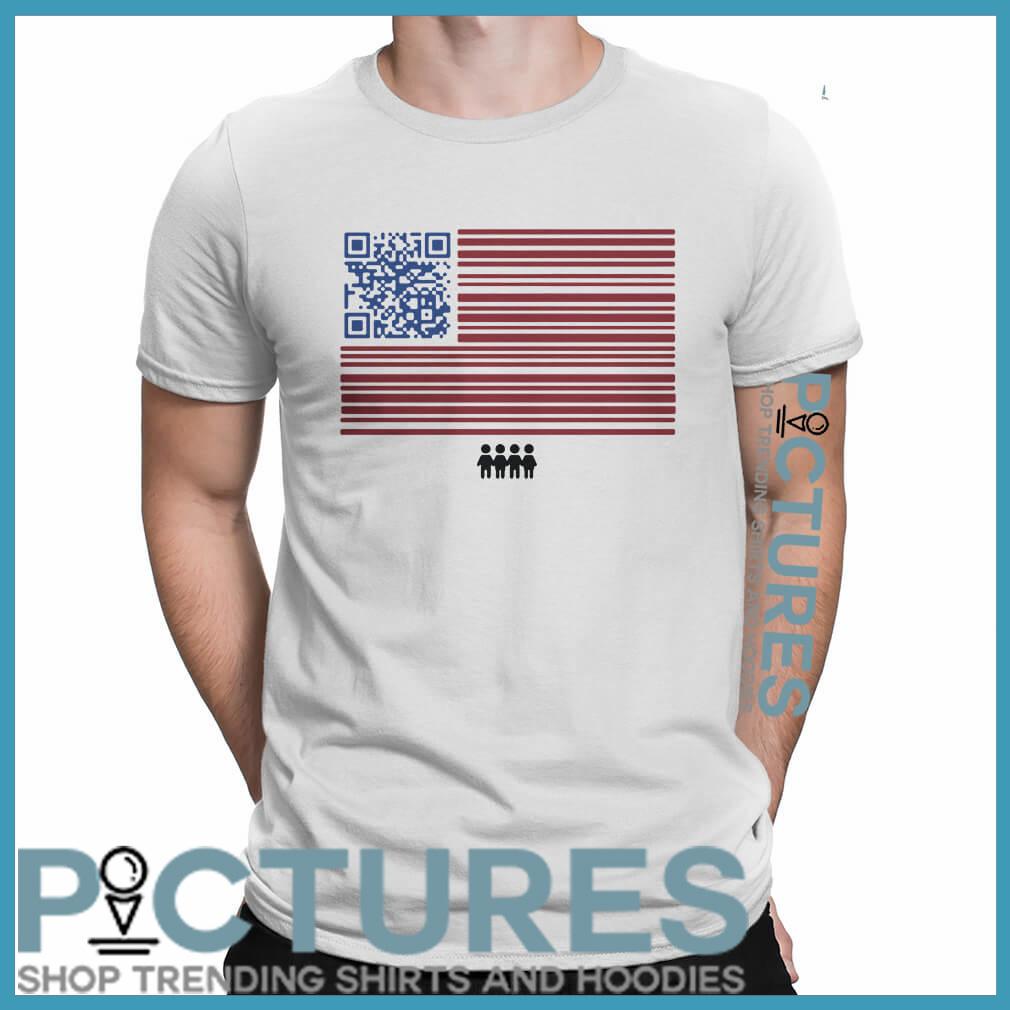 Register to vote QR code shirt