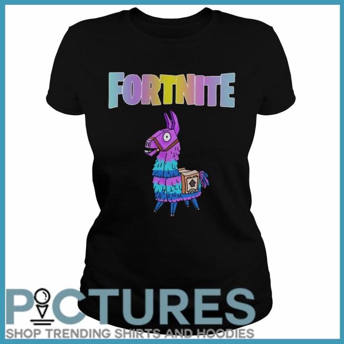 Fortnite Unicorn Llama Ladies Tee