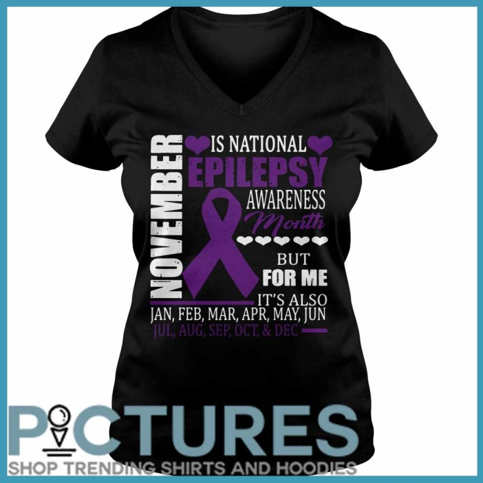 November is national epilepsy awareness month V-neck