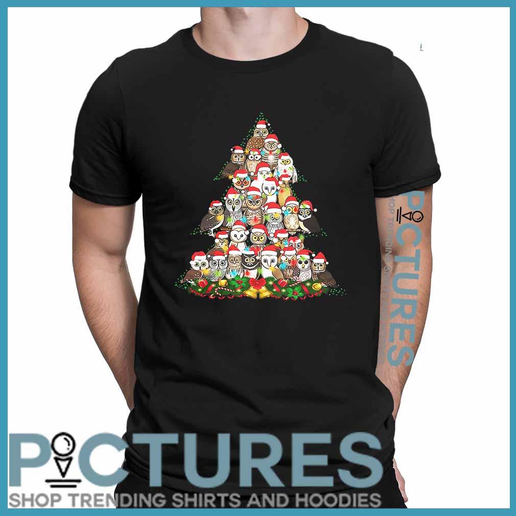 Owl Christmas tree shirt
