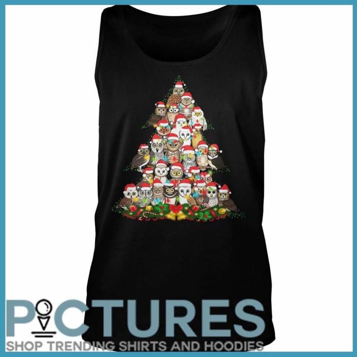 Owl Christmas tree Tank top