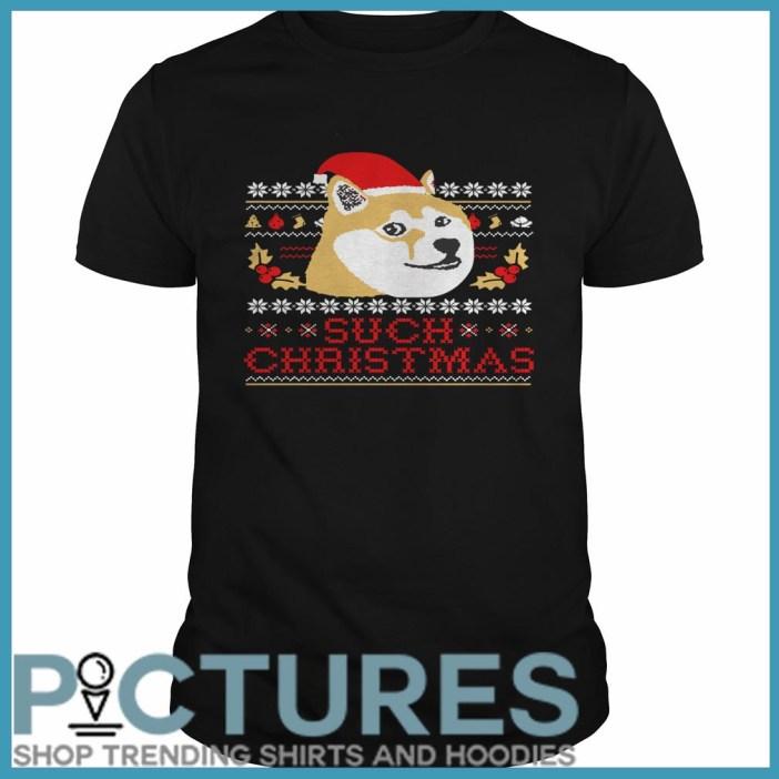 Shiba Inu Such Christmas Guys Tee