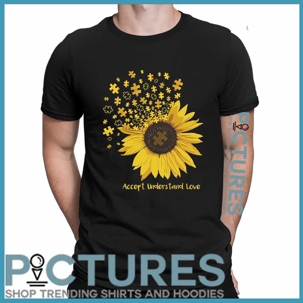 Sunflower Autism accept understand love shirt