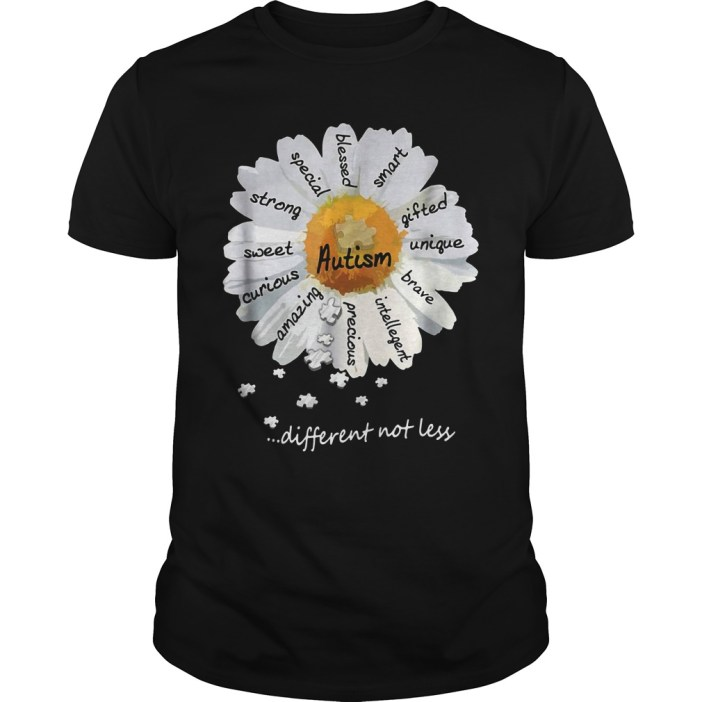 Autism different not less Wild daisies shirt 2