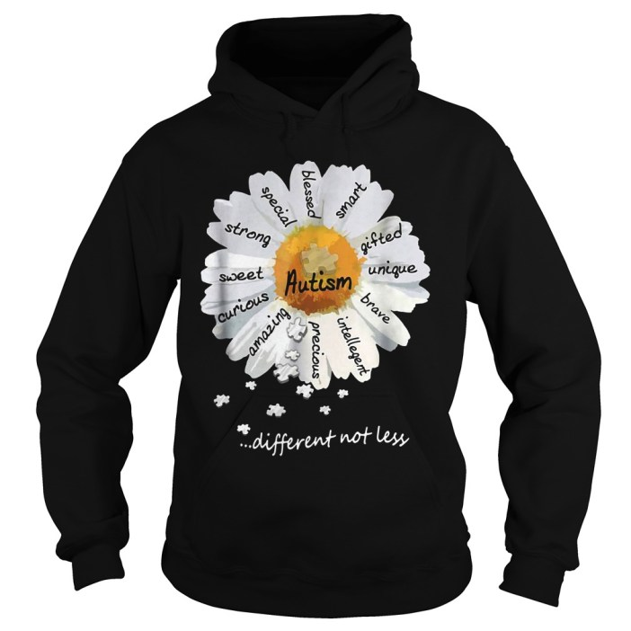 Autism different not less Wild daisies shirt 8