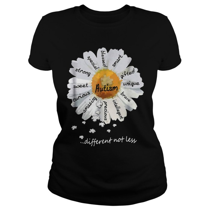 Autism different not less Wild daisies shirt 3