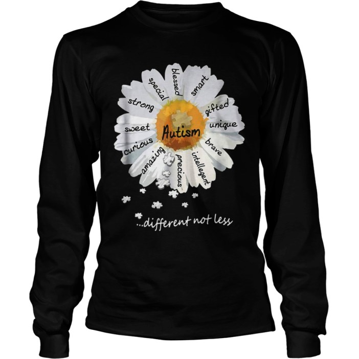 Autism different not less Wild daisies shirt 6