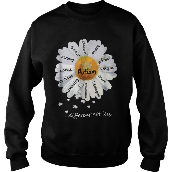 Autism different not less Wild daisies shirt 7