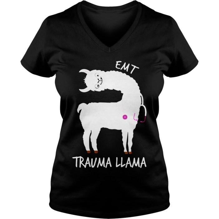 EMT trauma llama v-neck